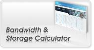 Bandwidth & Storage Calculator